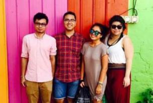 Students on study abroad program