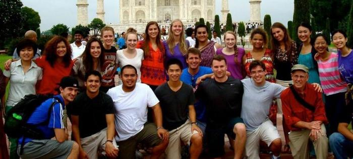 Photo of students abroad in India